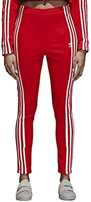 047e9367a75d8 adidas Originals 3-Stripes Women's Athletic Track Pants Red/White ...