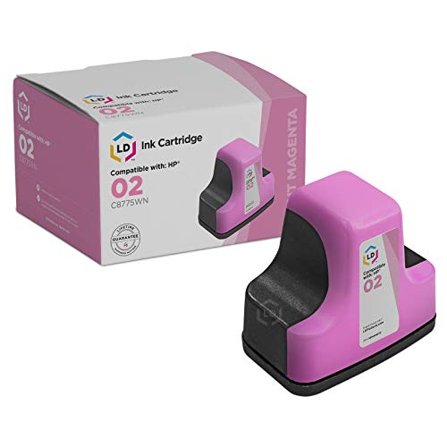 - LD Remanufactured Ink Cartridge Replacement for HP 02 C8775WN (Light Magenta)