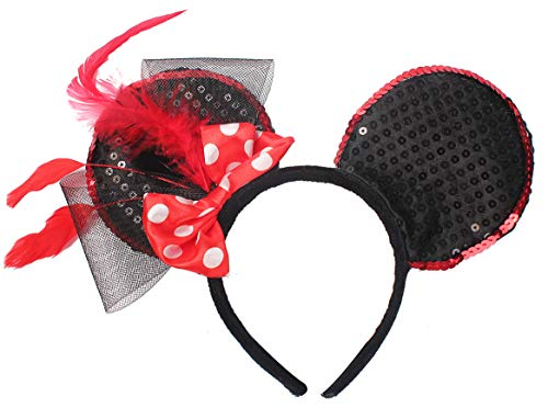 Novelty Mickey Mouse Ears Headband Cosplay Party Headwear for Girls and Women ()