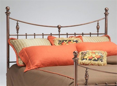 Bernards Penny Antique Copper Headboard King