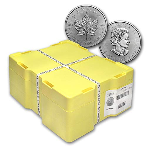 CA 2019 Canada 500-Coin Silver Maple Leaf Monster Box (Sealed) Brilliant Uncirculated