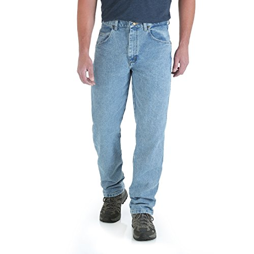 (Wrangler Men's Extra Big Rugged Wear Relaxed Fit Jean ,Vintage Indigo,56x28)