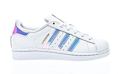 adidas Superstar J Iridiscent Kids Trainers White Silver - 5 UK