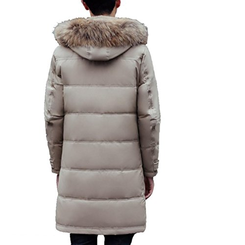 Winter Coat Detachable In Men's collar khaki the jacket Cap The YANXH long Down New fur Section U1da6A
