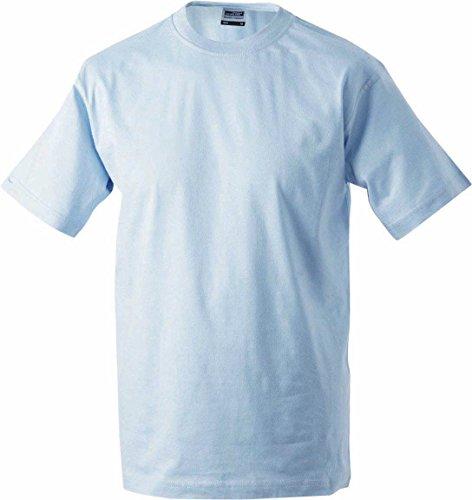 Nicholson amp; A Uomo Maglia Heavy Round Blu Lunghe light shirt James blue Maniche T qgwxAF5ZZ
