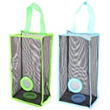 Shopo's 2 Pcs Small Breathable Mesh Hanging Kitchen Garbage Collector Storage Shopping Bag Organizer