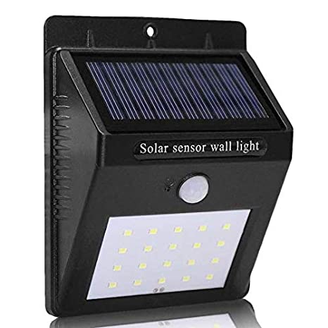 Dfs Smart Sensor And Solar Power Led Wall Light 20 Led Pir Motion Sensor Outdoor Security Lamp Waterproof Garden Wall Lamp Landscape Lights 1 Yr
