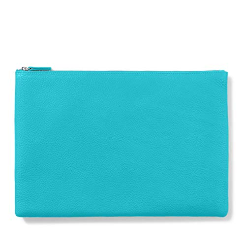 (Large Pouch - Full Grain Leather - Teal (blue))