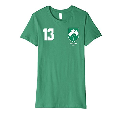 Womens Ireland Rugby Jersey T-Shirt Small Kelly (Jersey Slim Rugby)