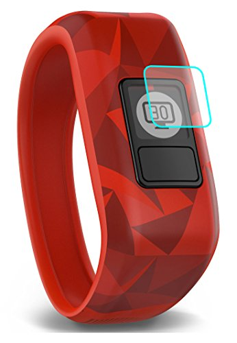 6X Garmin Vivofit 3 & Vivofit Jr Screen Protector [Easy Install] No Peel] Made in the USA