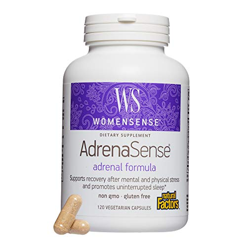 WomenSense by Natural Factors, AdrenaSense, Supports Healthy Adrenal Function and Uninterrupted Sleep, Gluten Free, 120 capsules (60 servings)