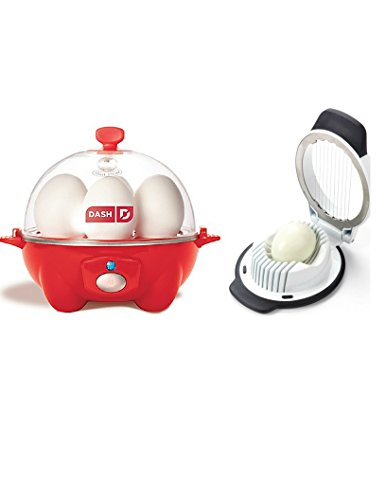 Appliances-Egg Cooker-DASH Go Rapid Egg Cooker In RED FINISH