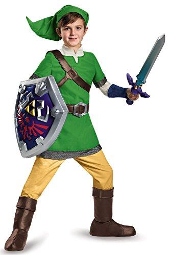 Deluxe Link Child Costume - (Kids Elf Warrior Costumes)