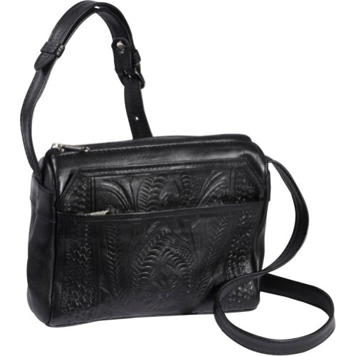 Ropin West Small Multipocket Shoulder Bag (Black)