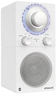 Retro-radio Artsound R5BT W con Bluetooth, recargable, blanco mate