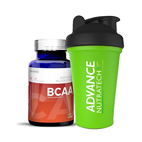 BCAA 100Gm powder Flavored with Shaker by ADVANCE NUTRATECH