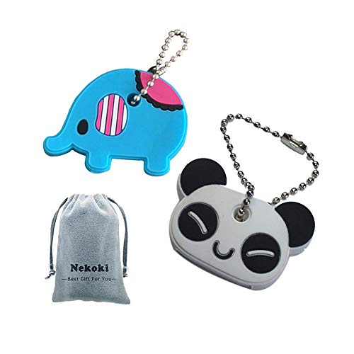 (Key Cap Tags,Key Cap Covers Cute Cartoon and Animal Key Identifier Silcone Housekey Labels Sleeve Multicolor & Fits Most Keys Perfect Coding System )