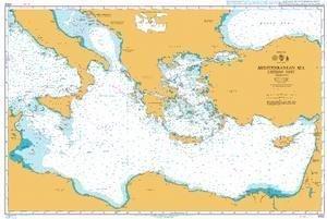 Ba Diagramm 4302  Mittelmeer Östlichen Teil von UNITED KINGDOM Hydrographic Büro