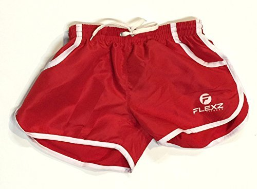 Gym Shorts Bodybuilding| Festival Rugby Shorts, 2euros, Ibiza Beach Workout Red - Festival Retro