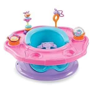 Summer Infant Superseat - Asiento elevador/mesa de actividades evolutiva rosa.