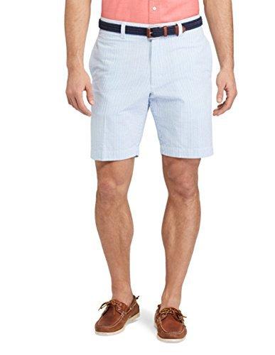 Chaps Mens Straight-Fit Seersucker Stripe Shorts (42, Swiss ()