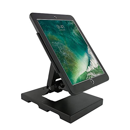 Desktop & Wall Mount Anti-Theft Security Kiosk POS Stand Holder Enclosure with Lock&Key for Tablets, Compatible with iPad 2,3,4, iPad air, iPad air 2, iPad Pro 9.7