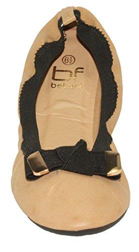 Betani Dames Doris-4 Comfortabele Opvouwbare Slip-on Ballet Flats Beige