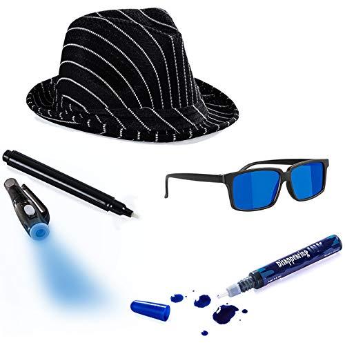 Tigerdoe Detective Costume - Spy Gear for Kids - Dress Up - Spy Costume Accessories (4 Pc) ()