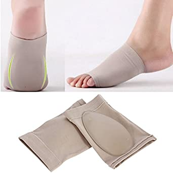 a6886bbd0b Image Unavailable. Image not available for. Color: Lessonmart 1Pair Arches  footful Orthotic Flat Feet Relieve Pain Arch Support Brace ...