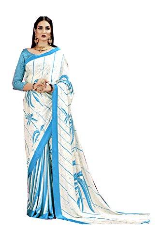 Da Facioun Saris Indiens Pour Les Femmes Portent Mariage Partie Concepteur D'ivoire Sari Traditionnel