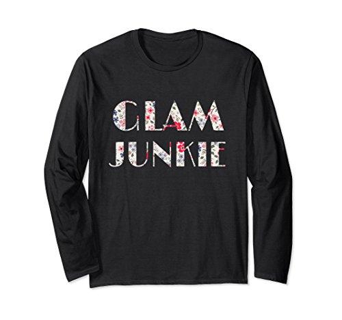 Unisex Cool Flowers Glam Junkie Birthday Gift Shirt-Icon Living 2XL Black