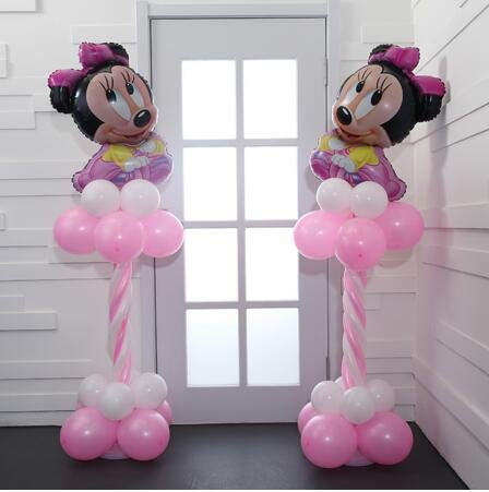 - High Quality | Ballons & Accessories | 32pcs/lot Mikcey Minnie Mouse Foil Balloons Cartoon Globos 2.3g Latex Balloons Baby Shower Happy Birthday Wedding Party Supplies | by HeroBar991