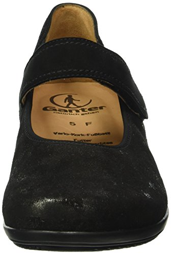Ganter Fiona, Weite F, Geschlossene Ballerinas Para Mujer Negro(schwarz 0100)