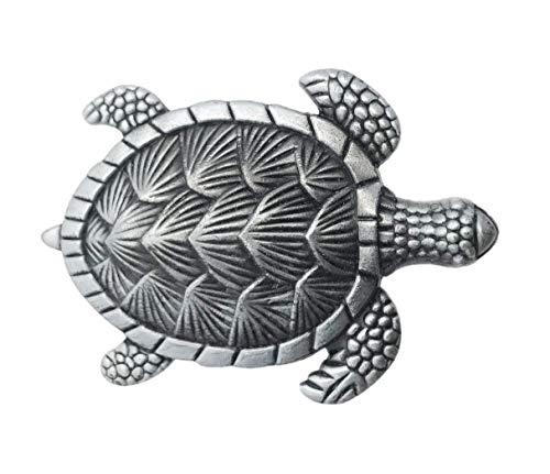 Turtle Silver Metal Dresser Drawer, Cabinet Drawer or Door Knob Pull - Pack of 12