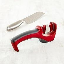 Kitchen IQ Hone Santoku Knife Sharpener (Black/Red)