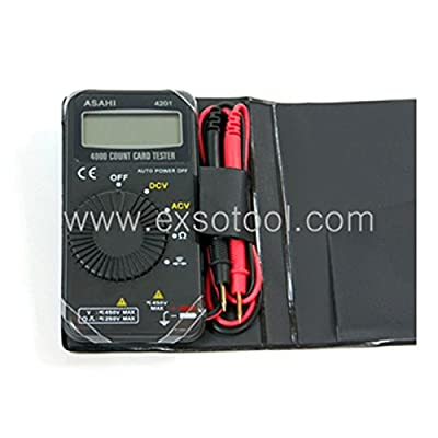 EXSO Digital Multimeter DMM Multi Tester - Voltage, Resistance Meter ASAHI-4201