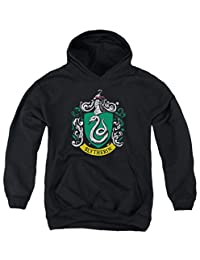 A&E Designs Kids Harry Potter Hoodie Slytherin Crest Logo Youth Hoody