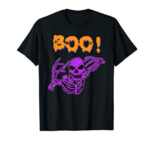 Boo! Creepy Skeleton Halloween Bones Huesos esqueleto