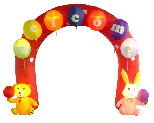 9 Foot Tall Party Inflatable Archway with ''Welcome'' Balloons - Yard Decoration by BZB Goods