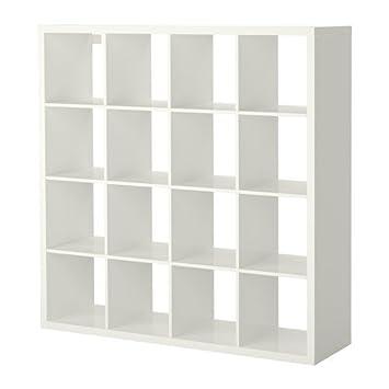 Ikea Kallax Shelving Unit High Gloss White 147x147 Cm