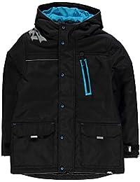Kids Boys Trackside Jacket Junior Padded Coat Top Waterproof Zip Full