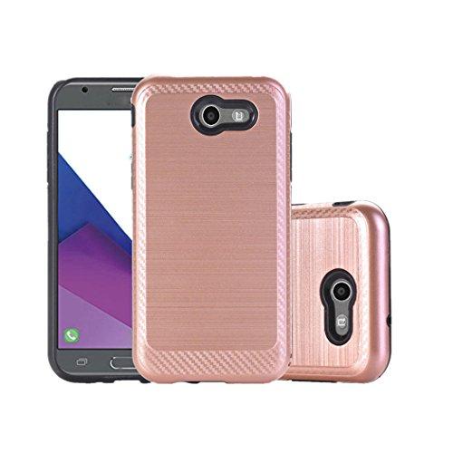 Price comparison product image DDLBiz Back Hybrid Case Cover For Samsung Galaxy J3 Emerge 2017 / J327 (Rose Gold)