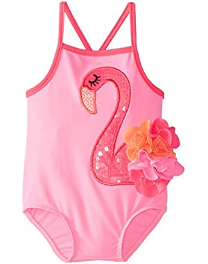 Baby Girls' Flamingo Swimsuit!