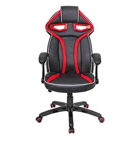 41mPxGwHd0L - MD-Group-Gaming-Chair-Racing-Bucket-Seat-Style-High-Back-Red-PU-Fabric-Mesh-Large-Load-Capacity