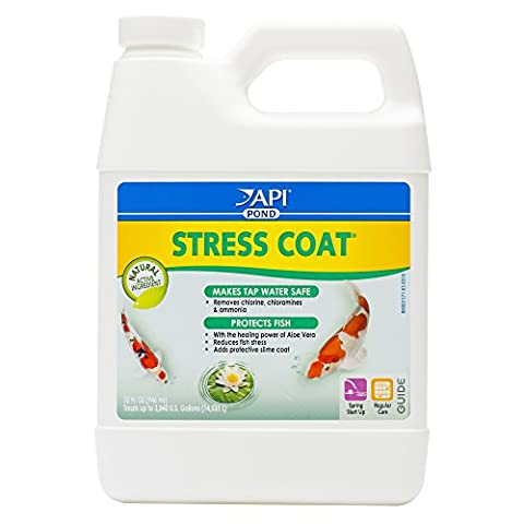 API POND STRESS COAT Pond Water Conditioner 32-Ounce Bottle - Api Tap Water Conditioner