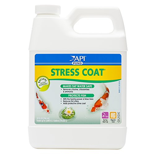 (API POND STRESS COAT Pond Water Conditioner 32-Ounce Bottle)