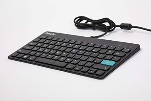 Penclic C3 Office Wired Ergonomic Keyboard - Compact Size with Full-Size Keys, Ergonomic Design and Integrated USB Hub.