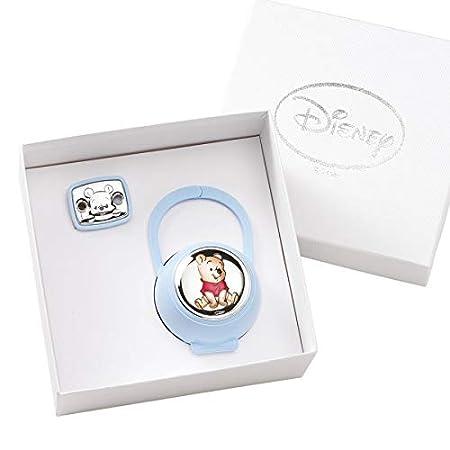 Ni/ño O ni/ña azul celeste cadena portachupete con Box De Plata para reci/én nacido Disney Baby Winnie the Pooh/ /pinza chupete