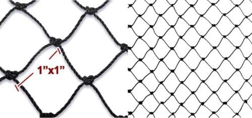 Mcage Net Netting for Bird Poultry Aviary Game Pens with 1 Mesh Hole