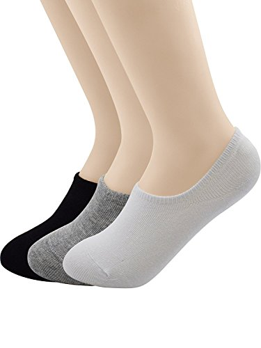 Lavender Hill Floral (Passionate Adventure Unisex Bamboo Casual Hidden Flat Boat Line Socks Anti-Slip Low Cut No Show B 3 Pairs Black White Gray Shoe Size 5-8 (Sock Size 8.5